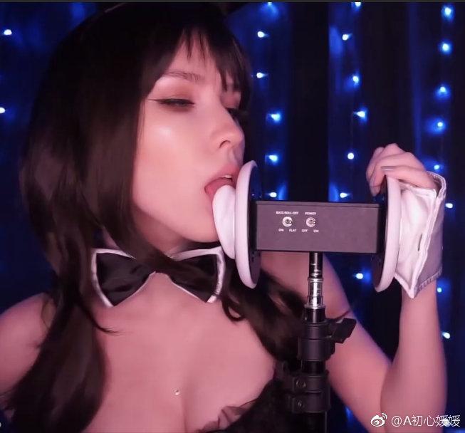 ASMR MOOD兔女郎舔耳福利视频