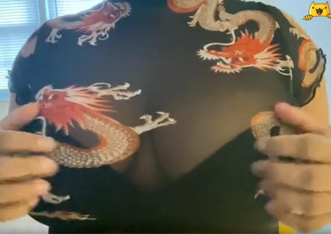ASMR Dragon透明衬衫划痕和摩擦深层放松